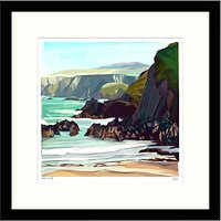Jill Ray - Under The Cliff Framed Print, 54 x 54cm
