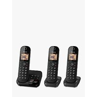 Panasonic KX-TGC423EB Digital Cordless Telephone with 1.6 Backlit LCD Screen, Nuisance Call Blocker & Answering Machine, Trio DECT