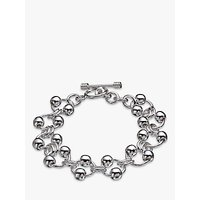 shop for Andea Sterling Silver Balls On Rings Bracelet, Silver at Shopo