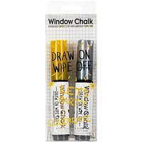 NPW Window Chalk Metallic Markers, Pack of 2