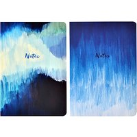 Portico A5 Abstract Notebooks, Pack of 2