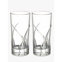 shop for John Lewis & Partners Grosseto Cut Crystal Glass Highballs, 360ml, Set of 2, Clear at Shopo