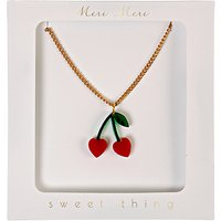 Meri Meri Childrens Cherry Charm Necklace, Gold