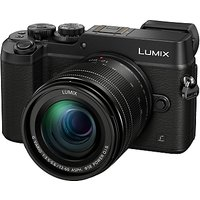 Panasonic LUMIX DMC-GX8 Compact System Camera With 12-60mm Lens, 5x Optical Zoom, 4K Ultra HD, 20.3MP, Wi-Fi, NFC, OLED EVF, 3 Touch Screen, Black