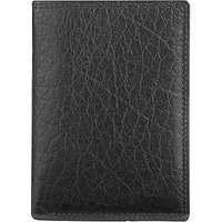 John Lewis Katta Aniline Leather Shirt Wallet, Black