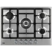 Beko HCMW75225SX Integrated Gas Hob, Stainless Steel