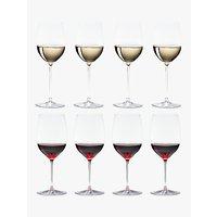 Riedel Veritas Cabernet / Merlot & Viognier / Chardonnay Wine Glasses, Set of 8