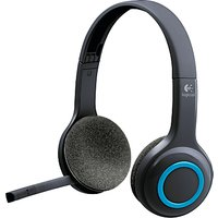 Logitech H600 Fold-and-Go Wireless Headset, Black