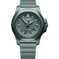 Victorinox 241757 Mens I.N.O.X Titanium Date Rubber Strap Watch, Grey