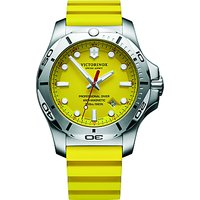 Victorinox 241735 Mens I.N.O.X Diver Rubber Strap Watch, Yellow