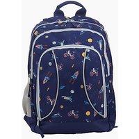 John Lewis Space Print School Backpack, Navy