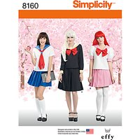 Simplicity Womens Sailor Dress Costume Sewing Pattern, 8160