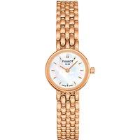 Tissot T0580093311100 Womens Lovely Bracelet Strap Watch, Rose Gold/White