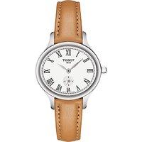 Tissot T1031101603300 Womens T-Lady Bella Ora Leather Strap Watch, Tan/White