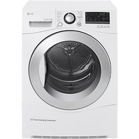 LG RC7055AH2M Freestanding Heat Pump Condenser Tumble Dryer, 7kg Load, A++ Energy Rating, White