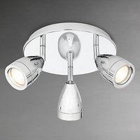 John Lewis Blake Bathroom Spotlight, Chrome, 3 Light