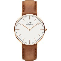 Daniel Wellington Womens Classic Durham Leather Strap Watch