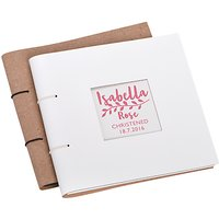 Letterfest Personalised Christening Leather Photo Album