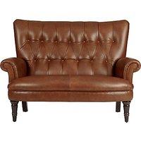 John Lewis Hambleton Leather Snuggler, Dark Legs