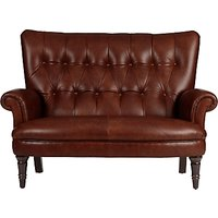 John Lewis Hambleton Leather Snuggler, Dark Legs
