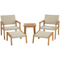 John Lewis Stockholm 5 Piece Lounge Set, FSC-Certified (Eucalyptus), Natural