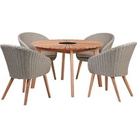John Lewis & Partners Sol 4 Seater Round Garden Dining Table & Chairs Set, FSC-Certified (Eucalyptus