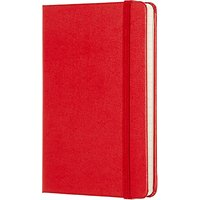 Moleskine Classic Collection Pocket Ruled Notebook, Red