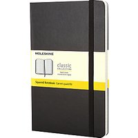 Moleskine Large Hard Cover Squared Notebook, Black