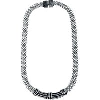 Adele Marie Flat Mesh Necklace, Silver