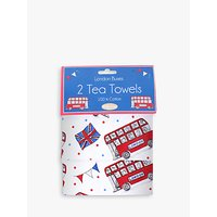 Milly Green Celebration of Britain London Cotton Tea Towels, Set of 2