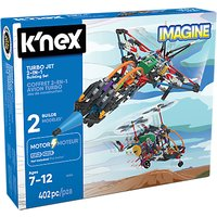 KNex Turbo Jet 2 In 1 Building Set