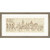 Adelene Fletcher - Venetian Piazetta Framed Print, 100 x 50cm
