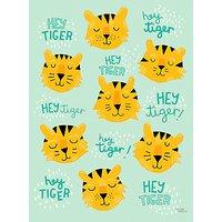 Michelle Carlslund Illustration Hey Tiger Print Poster, 50cm x 70cm