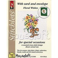 Mouseloft Floral Wishes with Card and Envelope Cross Stitch Kit