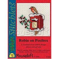 Mouseloft Robin on Postbox Cross Stitch Kit