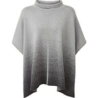 Pure Collection Tate Jacquard Poncho, Heather Charcoal/Grey