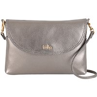 Tula Party Leather Across Body Bag, Silver