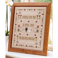 Historical Sampler Horseshoe Wedding Sampler Cross Stitch Kit