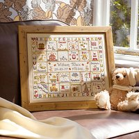 Historical Sampler A is For Ark Birth Cross Stitch Kit