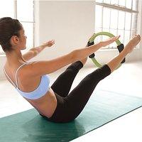 Gaiam Pilates Toning Ring, Black/Green