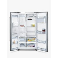 Neff KA3902I20G American Style Fridge Freezer, A+ Energy Rating, 90cm Wide, Stainless Steel
