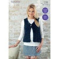 Sirdar Touch Womens Gilet Knitting Paper Pattern, 7782