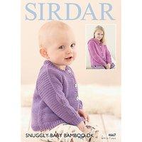 Sirdar Snuggly Baby Bamboo DK Cardigan Knitting Paper Pattern, 4667