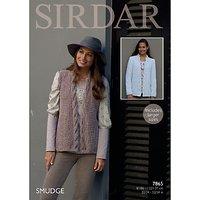 Sirdar Smudge Womens Cardigan Knitting Paper Pattern, 7865