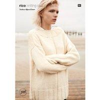 Rico Fashion Alpaca Dream Womens Jumper Knitting Pattern, 506