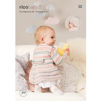 Rico Baby Dream A Luxury Touch DK Jacket and Hat Knitting Paper Pattern, 517