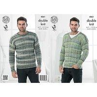 King Cole Drifter DK Mens Jumper Knitting Pattern, 4261