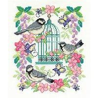 DMC Creative Oriental Bird Cross Stitch Kit