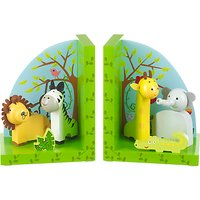Orange Tree Wooden Safari Bookends