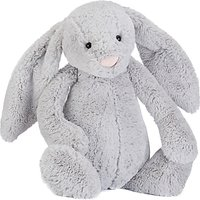 Jellycat Bashful Bunny Soft Toy, Huge, Silver